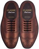 Classic Черные АнтиШнурки 5+5 (10шт. комплект) 40мм