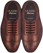 Classic Коричневые АнтиШнурки 5+5 (10шт. комплект) 30мм