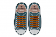 Прямі Силіконові АнтиШнурки для кросівок і кедів, 12шт. (Довжина: 56,5мм)