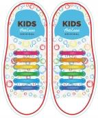 Kids Разноцветные АнтиШнурки 6+6 (12 шт комплект)