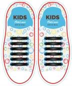 Kids Черные АнтиШнурки 6+6 (12 шт комплект)
