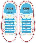 Kids Голубые АнтиШнурки 6+6 (12 шт комплект)