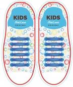 Kids Синие АнтиШнурки 6+6 (12 шт комплект)