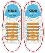Kids Оранжевые АнтиШнурки 6+6 (12 шт комплект)