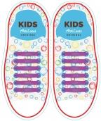 Kids Фиолетовые АнтиШнурки 6+6 (12 шт комплект)