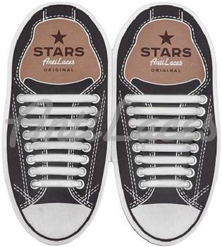 Косі, силіконові шнурки (АнтиШнурки) для кросівок і кедів, 16 шт. (Довжина: від 38мм до 68мм)