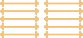 Бежеві АнтиШнурки 5+5 (10 шт. в комплекті) 30мм