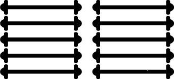 Чорні АнтиШнурки 5+5 (10 шт в комплекті) 40мм
