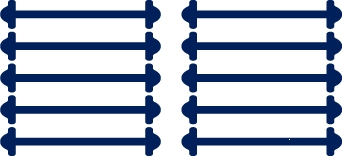 Classic Темно-синие АнтиШнурки 5+5 (10шт. комплект) 30мм