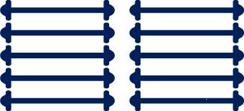 Темно-синие АнтиШнурки 5+5 (10шт. комплект) 40мм