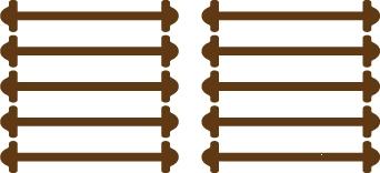Коричневые АнтиШнурки 5+5 (10шт. комплект) 40мм