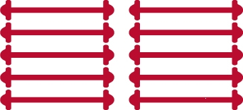 Бордовые АнтиШнурки 5+5 (10шт. комплект) 30мм