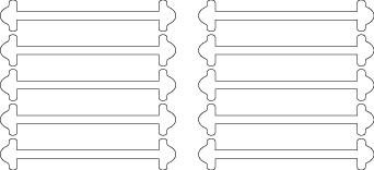 Белые АнтиШнурки 5+5 (10шт. комплект) 30мм