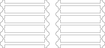 Белые АнтиШнурки 5+5 (10шт. комплект) 40мм