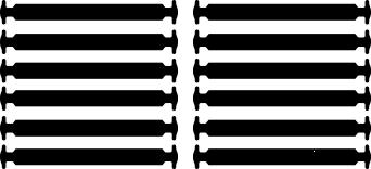 Черные АнтиШнурки 6+6 (12 шт комплект)