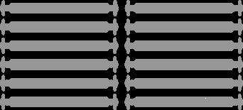Серые АнтиШнурки 6+6 (12 шт комплект)