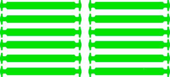 Салатовые АнтиШнурки 6+6 (12 шт комплект)