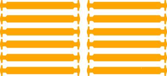 Оранжевые АнтиШнурки 6+6 (12 шт комплект)