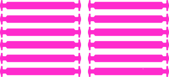 Розовые АнтиШнурки 6+6 (12 шт комплект)