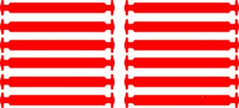 Красные АнтиШнурки 6+6 (12 шт комплект)