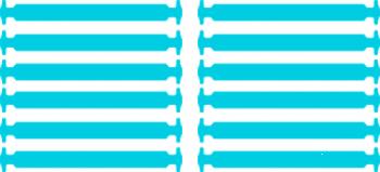 Голубые АнтиШнурки 6+6 (12шт набор)