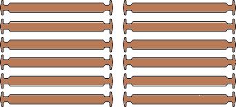 Коричневые АнтиШнурки 6+6 (12шт набор)