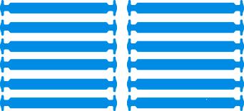 Синие АнтиШнурки 6+6 (12шт набор)
