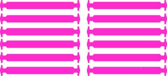 Розовые АнтиШнурки 6+6 (12шт набор)
