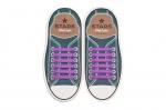 Фиолетовые АнтиШнурки 6+6 (12шт набор)