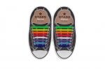 КОСЫЕ Разноцветные АнтиШнурки 8+8 (16 шт комплект)