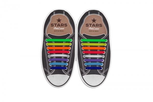 Разноцветные косые АнтиШнурки 8+8 (16 шт комплект). цена 95 грн 1f3c68c77576c