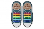 Разноцветные АнтиШнурки 6+6 (12шт набор)