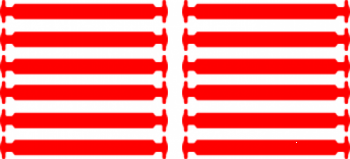 Красные АнтиШнурки 6+6 (12шт набор)