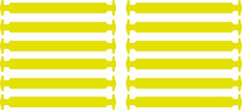 Желтые АнтиШнурки 6+6 (12шт набор)