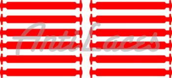 Прямые cиликоновые АнтиШнурки для кроссовок и кед, 12шт. (длина: 56,5мм)