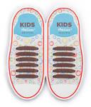 Детские Прямые cиликоновые АнтиШнурки для кроссовок и кед, 12шт. (длина: 38мм)