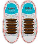 Kids Коричневые АнтиШнурки 6+6 (12 шт комплект)