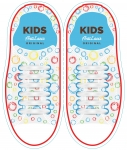 Kids Белые АнтиШнурки 6+6 (12шт. комплект)
