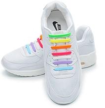 Разноцветные косые АнтиШнурки 8+8 (16 шт комплект) 65e56a853166a